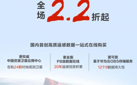 华为云推出遥感产品年终钜惠优惠力度空前