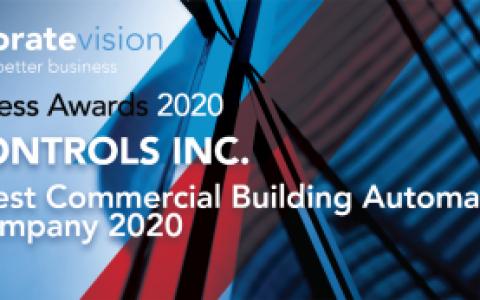 台达Delta Controls荣获2020年最佳商用楼宇自动化系统公司奖